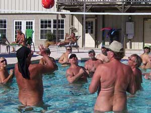 Enjoy a variety of activities at Natures Resort Nudist Club of Texas